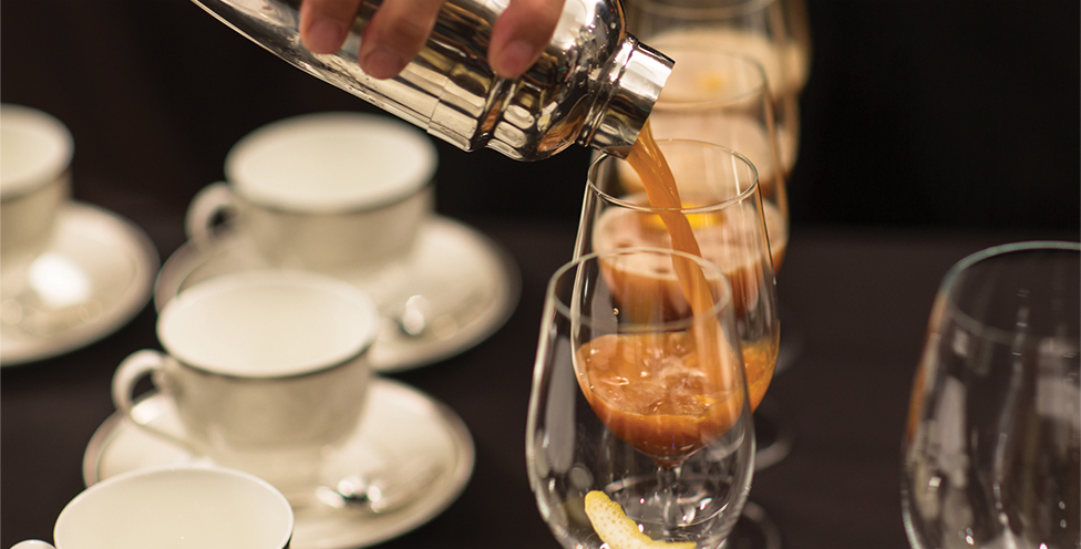 Tea Inspired Drinks are Being Poured Into Wine Glasses