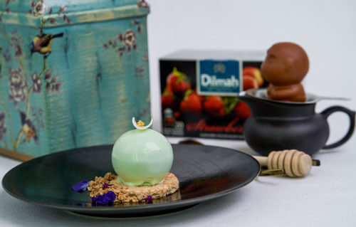 Double Tree By Hilton Hotel Jakarta - Green Tea Mousse With Dilmah Strawberry Tea Jelly
