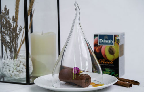 Double Tree By Hilton Hotel Jakarta - Chocolate Mousse With Passion Fruit & Dilmah Peach Tea Jelly