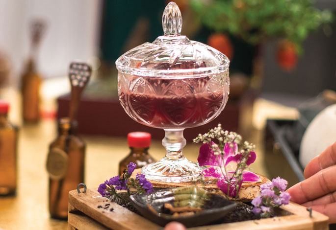 Glass of Tea Inspired Drink Resembles Harmony Theme
