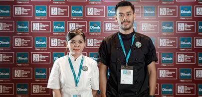 Rhama ( mixologist) & Jessica ( chef) <br> Above Eleven at Movenpick Resort & Spa Jimbaran Bali