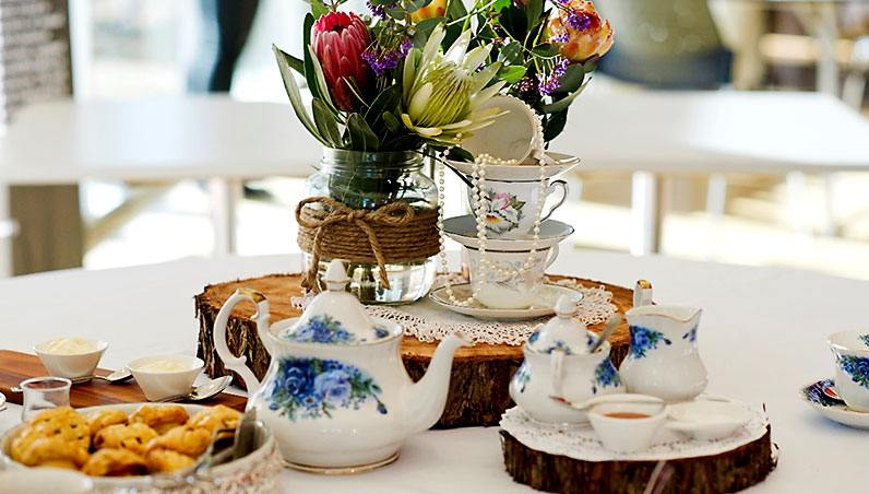 Well Prepared Table with a Tea Set