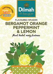 FLAVOURED INFUSION BERGAMOT ORANGE, PEPPERMINT AND LEMON